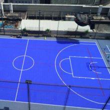 室外球场悬浮地板厂/幼儿园拼装地板/户外防滑拼装式运动地板