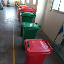 120L240升大号户外分类垃圾桶 干湿分类镀锌板铁质箱经久耐用