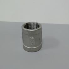 304不锈钢双头螺纹直通 丝扣不锈钢直通 DN20铸件内螺纹直通