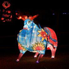 供应牛年彩灯 牛年花灯 春节花灯制作 十二生肖牛元素彩灯