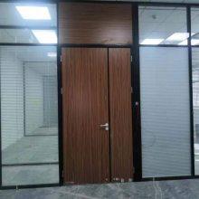 办公室单层玻璃隔断 双层玻璃百叶隔断 深圳厂家免费上门设计安装