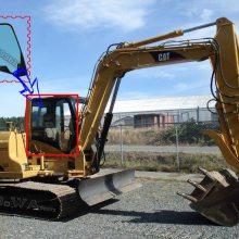 卡特CAT307C挖机驾驶室右臂大玻璃_卡特307C右窗大玻璃