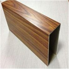 6061木纹铝方管,氟碳喷涂铝方管规格齐全