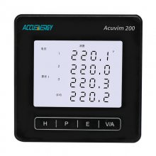 供应爱博精电Acuvim200三相多功能电力仪表,端子测温功能