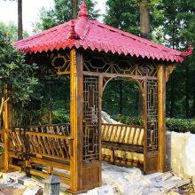 仿古凉亭防腐木亭子古建四角凉亭定做木结构景观工程