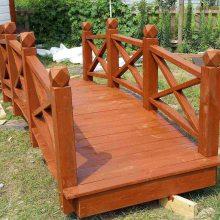 防腐木木桥木结构小拱桥景观休闲桥梁定做南京景观工厂直营