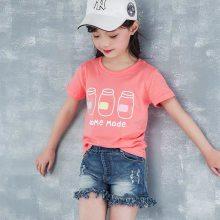 外贸尾货几块钱童装纯棉T恤出口装柜越南老挝缅甸