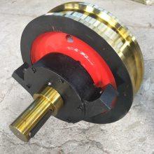钢包车套装车轮组 42CrMo起重机轴承箱车轮组 双梁小车轮组