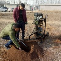 大棚立柱打坑机 锰钢钻头太阳能路灯钻眼机 河边树木栽种挖坑机