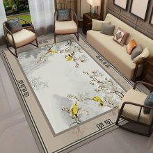 水晶绒印花地毯定制 水晶绒可定制铺满地毯
