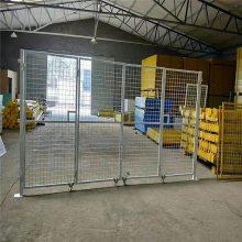 快递物流可移动分拣围栏车间防护隔离铁丝网仓库三角支架隔离栅栏