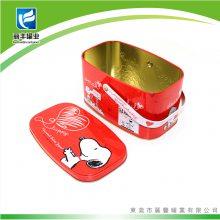 马口铁手挽罐 金属儿童卡通糖果盒 手挽铁罐食品储物罐 手提铁盒