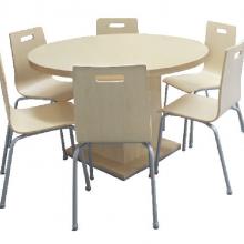 厂家直销四人位餐桌椅/钢木餐桌/教室餐桌/快餐桌/食堂分体餐桌