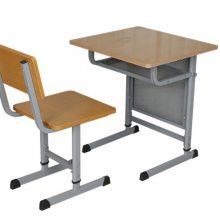 吉林学校招标用双人课桌椅 补习班用钢木课桌椅