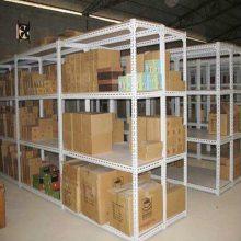 促销重庆中型货架:中轻型钢制货架,承载100~300kg/层,标准四层