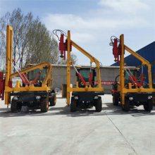 936高速装载式波形护栏打桩机新型高速钻孔路面护栏打桩机
