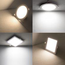 LED超薄圆形面板灯3W/6W/9W/12W/15W/18W/24W厨房客厅卫生间超亮嵌入式暗装筒灯