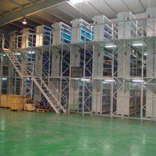 重庆阁楼货架/固联钢平台货架/重型立体仓库货架