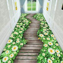 水晶绒印花地毯定制 彩色客厅卧室沙发脚垫子可定制尺寸