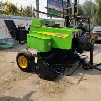 稻草秸秆切碎回收机 青贮秸秆打包机 自动捡拾方形捆草机