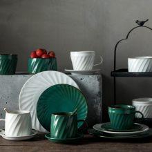 北欧创意碗筷碟子 陶瓷碗碟盘子 家用网红吃饭碗盘