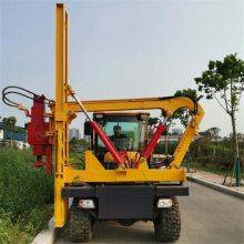 江苏高速路护栏打桩机 小型护栏打桩机厂家 全液压公路护栏打桩机