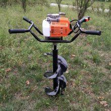 便携式植树造林打坑机 螺旋式汽油打坑机 畜牧围栏立柱钻眼机