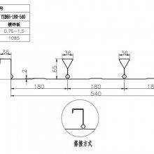 昆山市YX65-180-540型闭口楼承板_建筑楼面钢承板厂家