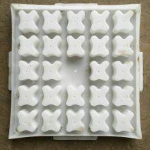 圆形塑料盒模具 基桩垫块模盒 水泥支撑垫块模具现货供应