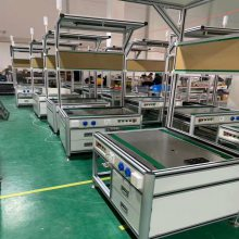 工厂***车间流水线工作台 电子生产线车间工作台铝型材来图加工定做