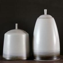 新中式现代陶瓷储物瓶 酒店展台玄关样板间软装饰品盖罐摆件