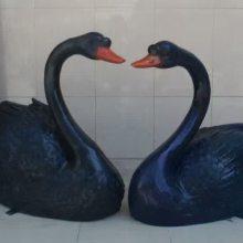 淄博玻璃钢雕塑 景观雕塑订做 黑天鹅雕塑造型 联尖雕塑批发厂家