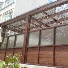 防腐木阳光房景观小型活动岗亭木结构房屋施工南京防腐木工程