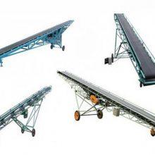 沙场装车输送机 可移动运输机 可定做裙边格挡皮带机 粮食装卸车传送带