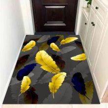 水晶绒印花地毯定制 茶几垫北欧风卧室床边毯家用垫