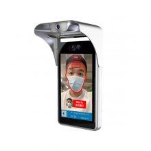 人脸识别测温终端 捷易科技8寸测温设备 新款样式 更实用 自带阳光挡板 D721 红外***测温