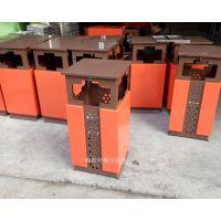 园林小区垃圾箱定制 促销各种新款垃圾箱 加厚钢板垃圾桶生产