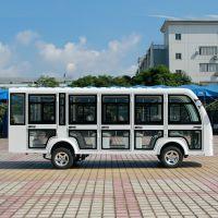 安步优品ABLQY143A新款14座全封闭电动观光车带易拆卸式钢化玻璃门景区电瓶车