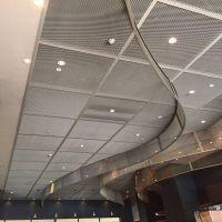 装饰拉网铝板的特点用途 金属网格铝吊顶天花