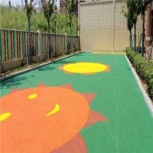 济南幼儿园塑胶地面施工,彩色塑胶地面,幼儿园地胶铺装