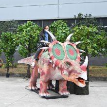 仿真恐龙坐骑,仿真三角龙游乐设备,出售大型仿真恐龙模型