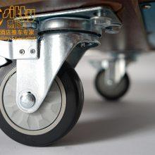 专业生产SITTY斯迪95.8236简约现代三层不锈钢包边餐饮服务车/酒水车