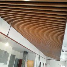 广东德普龙异形木纹铝方通_表面拉丝铝方通生产厂家