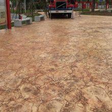 装饰混凝土压花地坪 农村道路改造 街道 广场地面彩色压花装饰