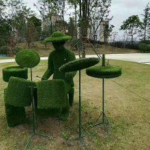 成都仿真绿雕雕塑厂家 定制仿真植物造型假草坪大型立体景观雕塑
