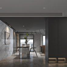 龙湖九里晴川装修,九里晴川二期洋房装修效果图,现代极简风格设计