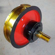 铸钢材质主动车轮组 被动车轮组 起重角箱车轮组