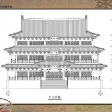 寺庙规划效果图,古建寺院设计图,寺庙建筑图