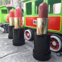 厂家***品牌口红模型玻璃钢雕塑树脂仿真化妆瓶唇膏瓶美陈摆件