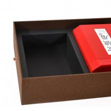 精装茶叶礼品盒定制,特种纸红茶礼盒定制免费设计